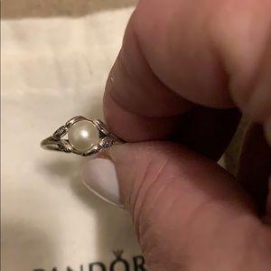 Brand new Pandora pearl ring